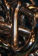 Rvs gedraaide D-sluiting met borstbout AISI-316, diameter 5 mm t/m 12 mm