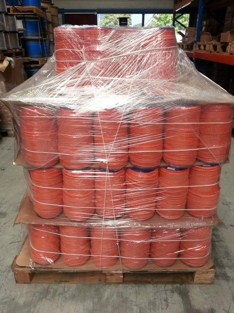 Gevlochten polyethylene zonder kern, oranje, 200 meter