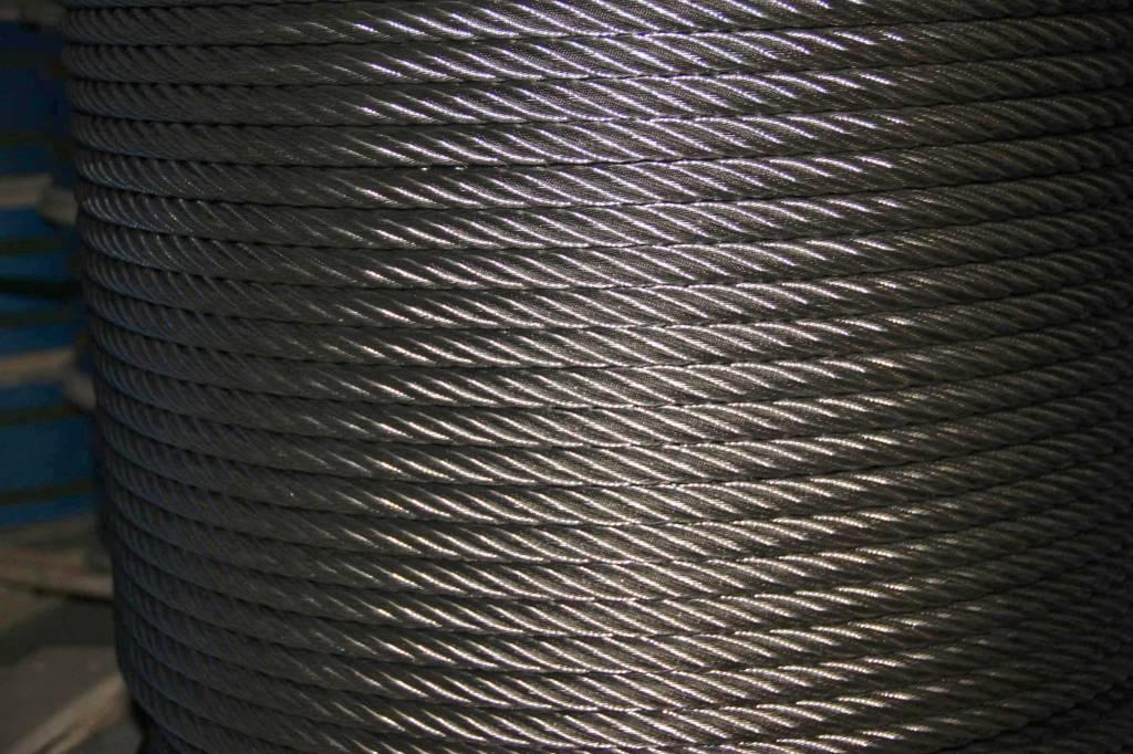 Rvs Staalkabel 7x7 AISI-316 250 meter op haspel 0,63mm t/m 8mm