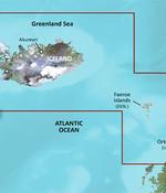 Garmin IJsland tot Orkney BlueChart g3 Vision kaart VEU043R
