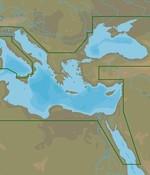 C-Map Middellandse Zee-oost, Zwarte- en Kaspische Zee - 4D