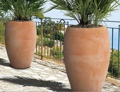 Terracotta bloempotten