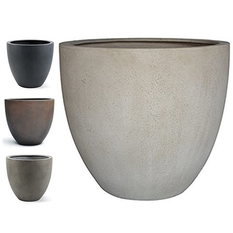 Egg pot M Concrete Ø 40