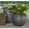 Nature Stone Vase Ball Indoor Ø 17 (set 2 stuks)