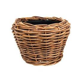 Fleur.nl -Drypot Rattan Drypot Rattan Round Brown Thick