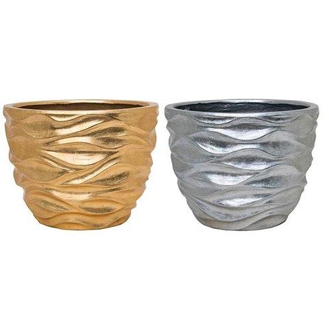 Luxe Lite Glossy sea gold/silver Ø 33 cm