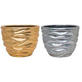 Fleur.nl -Baq Luxe Lite Glossy sea gold/silver Ø 40 cm