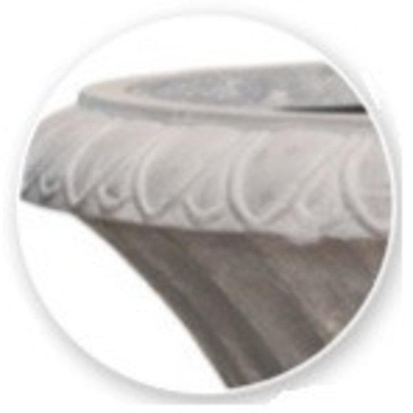 Baq Polystone Coated Giant Amphore Raw Grey Ø 96 cm