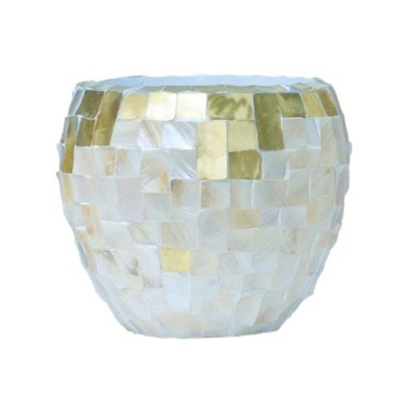 Baq Oceana Couple Yellow Copper/Pearl White Ø 50 cm