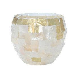 Fleur.nl -Baq Oceana Couple Yellow Copper/Pearl White Ø 42 cm