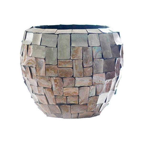 Baq Oceana Couple Steenless Steel/Pearl Brown Ø 42 cm