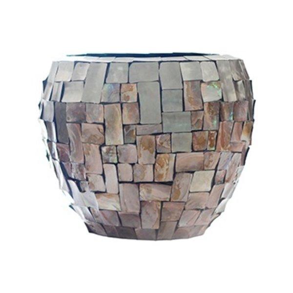 Baq Oceana Couple Steenless Steel/Pearl Brown Ø 50 cm