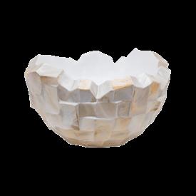 Fleur.nl -Baq Oceana Pearl Beach White/Steel Brown Ø 40 cm