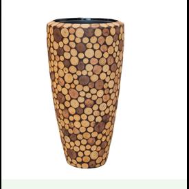 Fleur.nl -Baq Wood round 70 cm (+ inzetbak)
