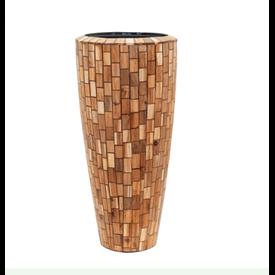 Fleur.nl -Baq Wood block 90 cm (+ inzetbak)