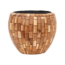 Fleur.nl -Baq Wood block Ø 42 cm (+ inzetbak)