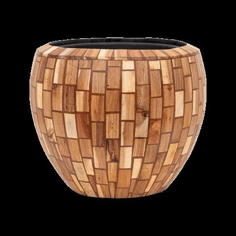 Wood block Ø 42 cm (+ inzetbak)