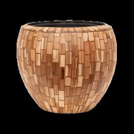Fleur.nl -Baq Wood block Ø 50 cm (+ inzetbak)
