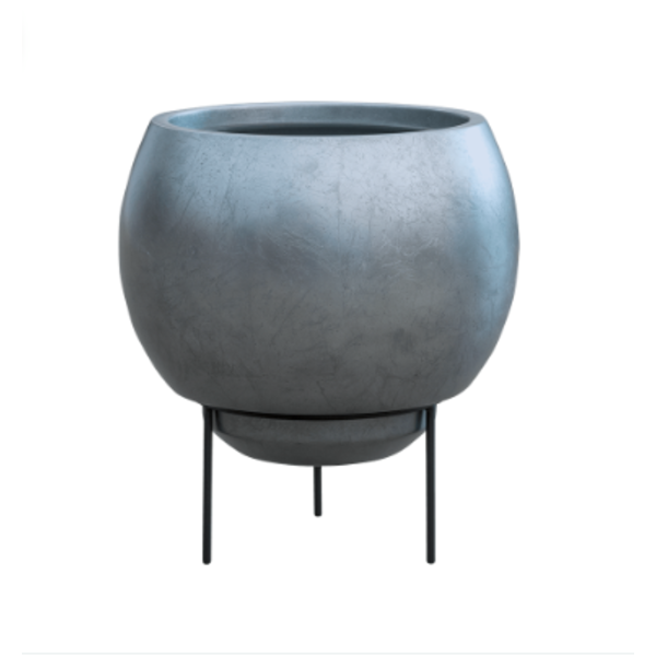 Baq Metallic Silver Standard Ø 34 cm (+ inzetbak) - medium