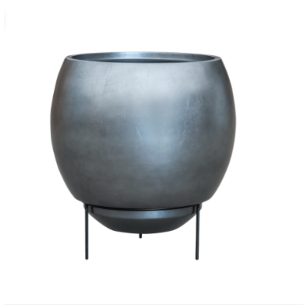 Baq Metallic Silver Standard Ø 48 cm (+ inzetbak) - large