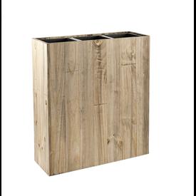 Fleur.nl - Marrone Wood Box 3-delig  (+ inzetbak)