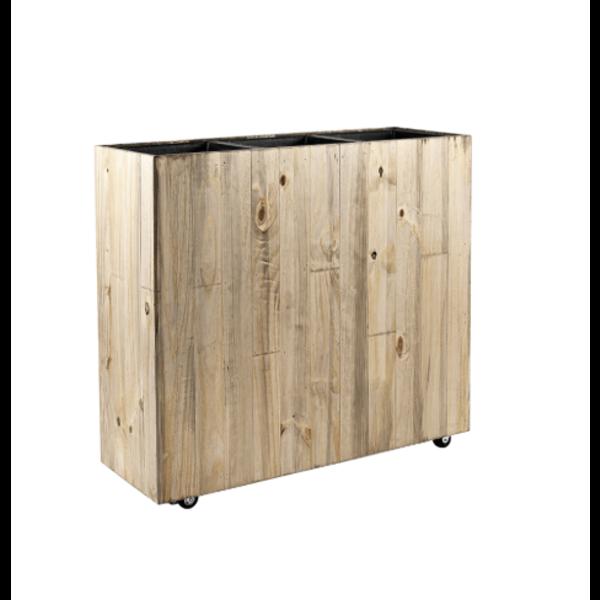 Marrone Wood Box Wheels 3-delig (+ inzetbak) -100 cm