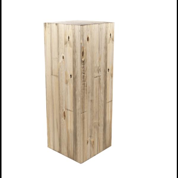 Marrone Wood Box Pillar 118 cm  - large