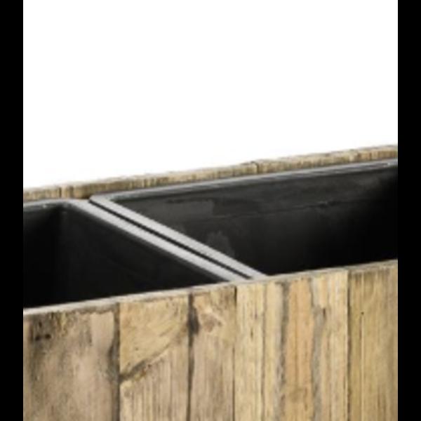 Marrone Wood Box Metal 64 cm (+ inzetbak) - 2-delig