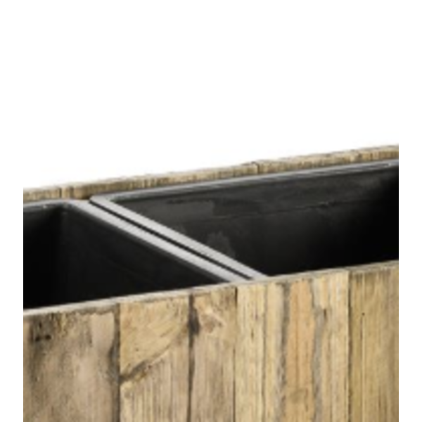 Marrone Wood Box 3-delig (+ inzetbak) - 66 cm