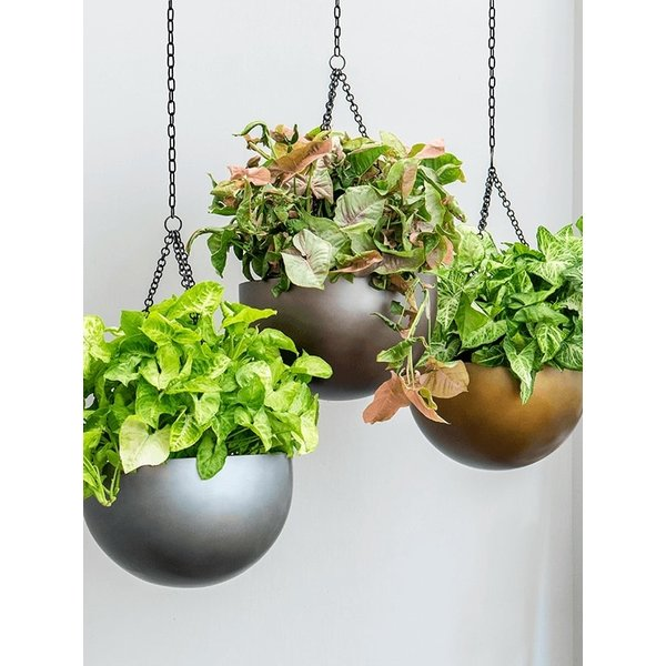 Metallic Hanging Bowl L