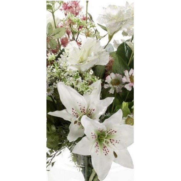 Boeket White Cream - kunstplant