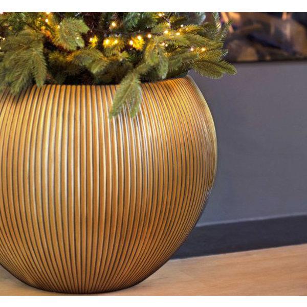 Capi Capi Nature Groove Vase Bowl Gold Ø 40