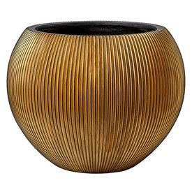 Fleur.nl -Capi Capi Nature Groove Vase Bowl Gold Ø 62