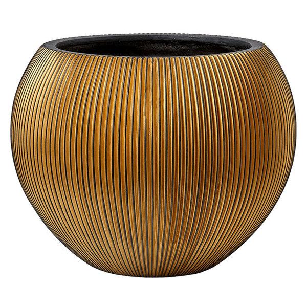 Capi Capi Nature Groove Vase Bowl Gold Ø 62
