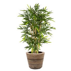 Fleur.nl - Bamboo Kunstplant in Pot Rattan