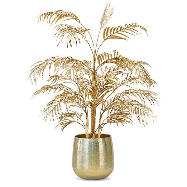 Arecapalm Gold Kunstplant in Metal pot