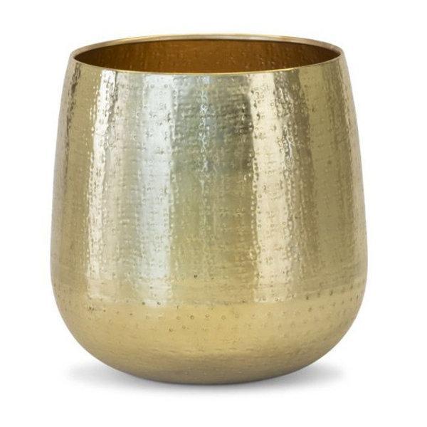 Areca palm Gold Kunstplant in Metal pot