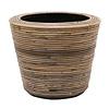 Drypot Rattan Stripe Round Grey