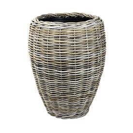 Fleur.nl -Drypot Rattan Drypot Rattan Vase Grey High Ø 48 cm