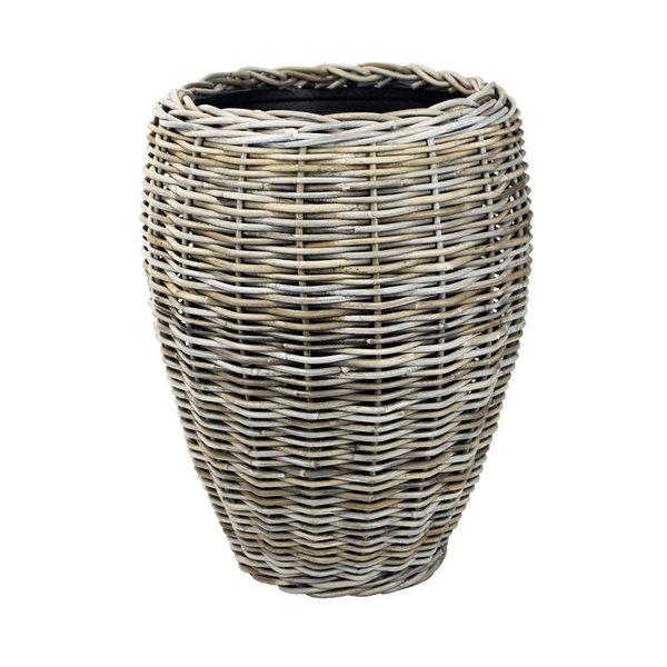 Drypot Rattan Drypot Rattan Vase Grey High Ø 48 cm