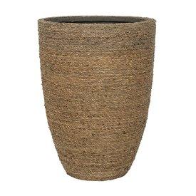 Fleur.nl -Pottery Pots Bohemian Straw Grass High Ø 30