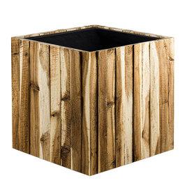 Fleur.nl - Marrone Wood Box Kubus Ø 34 cm