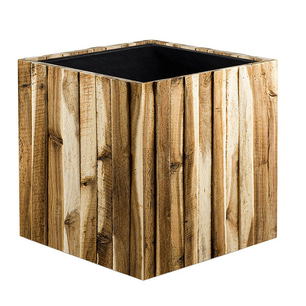 Marrone Wood Box Kubus Ø 34 cm  (+ inzetbak)