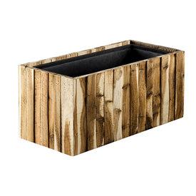Fleur.nl - Marrone Wood Box Long 61 cm