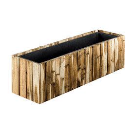 Fleur.nl - Marrone Wood Box Long 81 cm