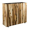 Marrone Wood Box Wheels 3-delig Acacia (+ inzetbak) - hoogte 34 cm