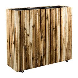 Fleur.nl - Marrone Wood Box Wheels 3-delig Acacia