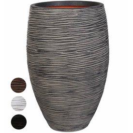 Fleur.nl -Capi Nature Vase Elegant Deluxe Rib Medium Ø 40