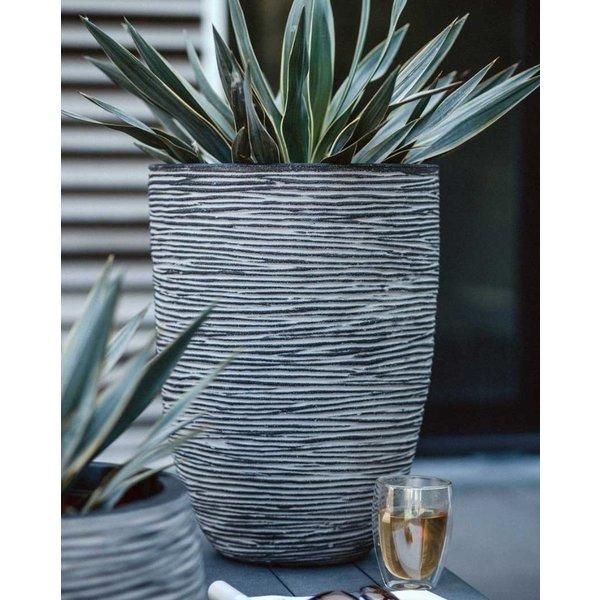 Capi Nature Vase Elegant Low Rib Large Ø 46