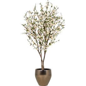 Fleur.nl - Cherry Blossom kunstplant in Amora pot goud